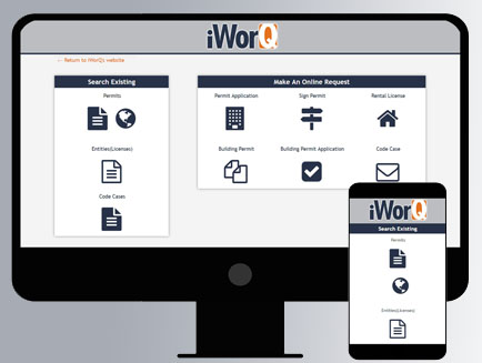 iWorQ New Portal Computer and Phone Screen Shot