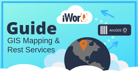 World map location icon going to arcGIS server and iworQ cloud